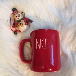 Rae Dunn Red Naughty Nice  coffee mug